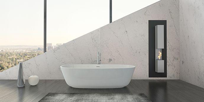 Zodiaq London Sky Quartz Countertops Natural Look Marble